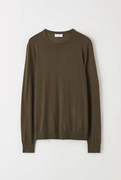 Nichols Merino Wool Pullover Kalamata Green