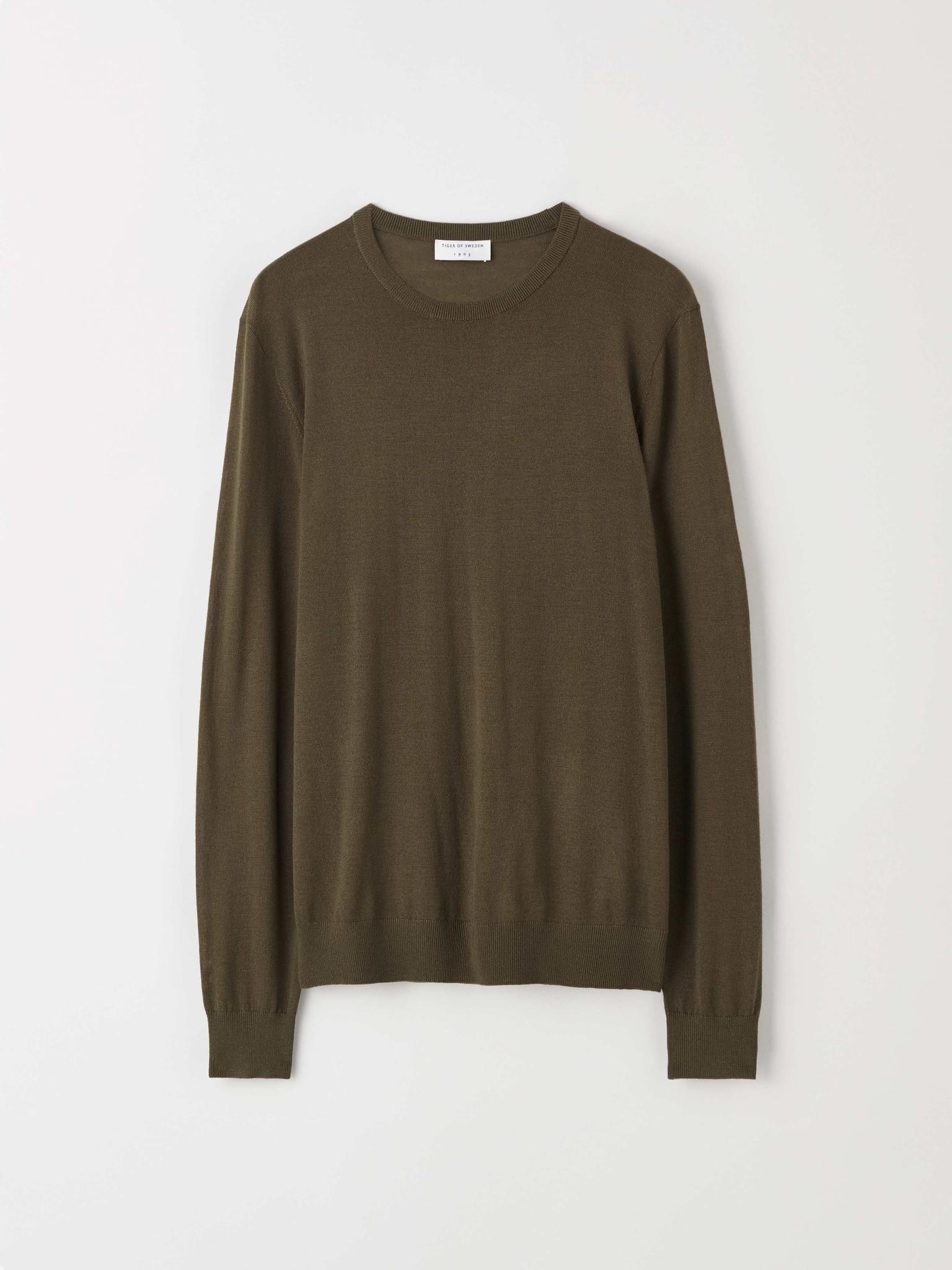 Nichols Merino Wool Pullover Kalamata Green-1