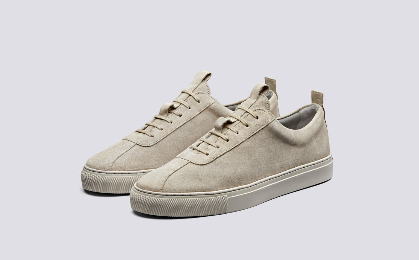 Sneaker 1 Stone Suede Oxfords Leather-1
