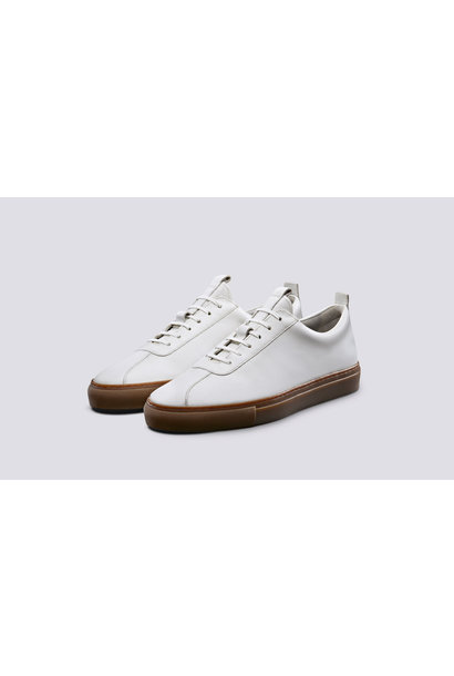Sneaker 1 White Calf Oxford Leather