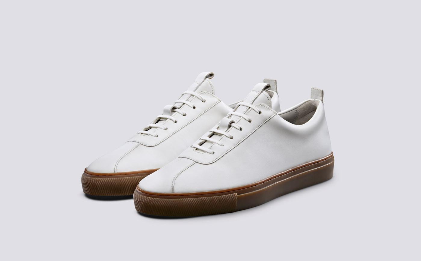 Sneaker 1 Wit Oxford Kalfsleder-2