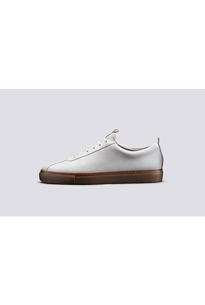 Sneaker 1 Wit Oxford Kalfsleder