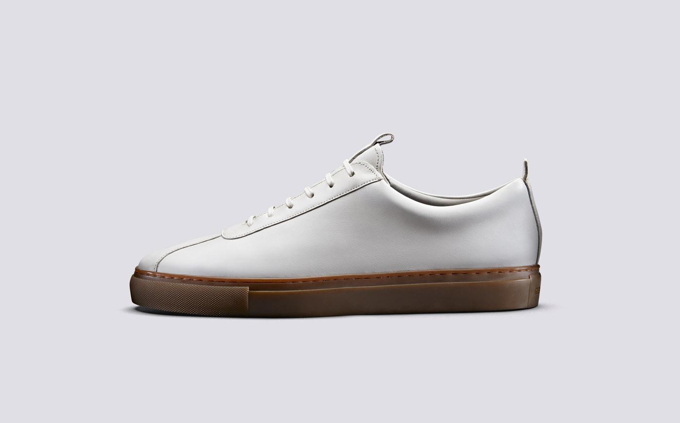 Sneaker 1 Wit Oxford Kalfsleder-1