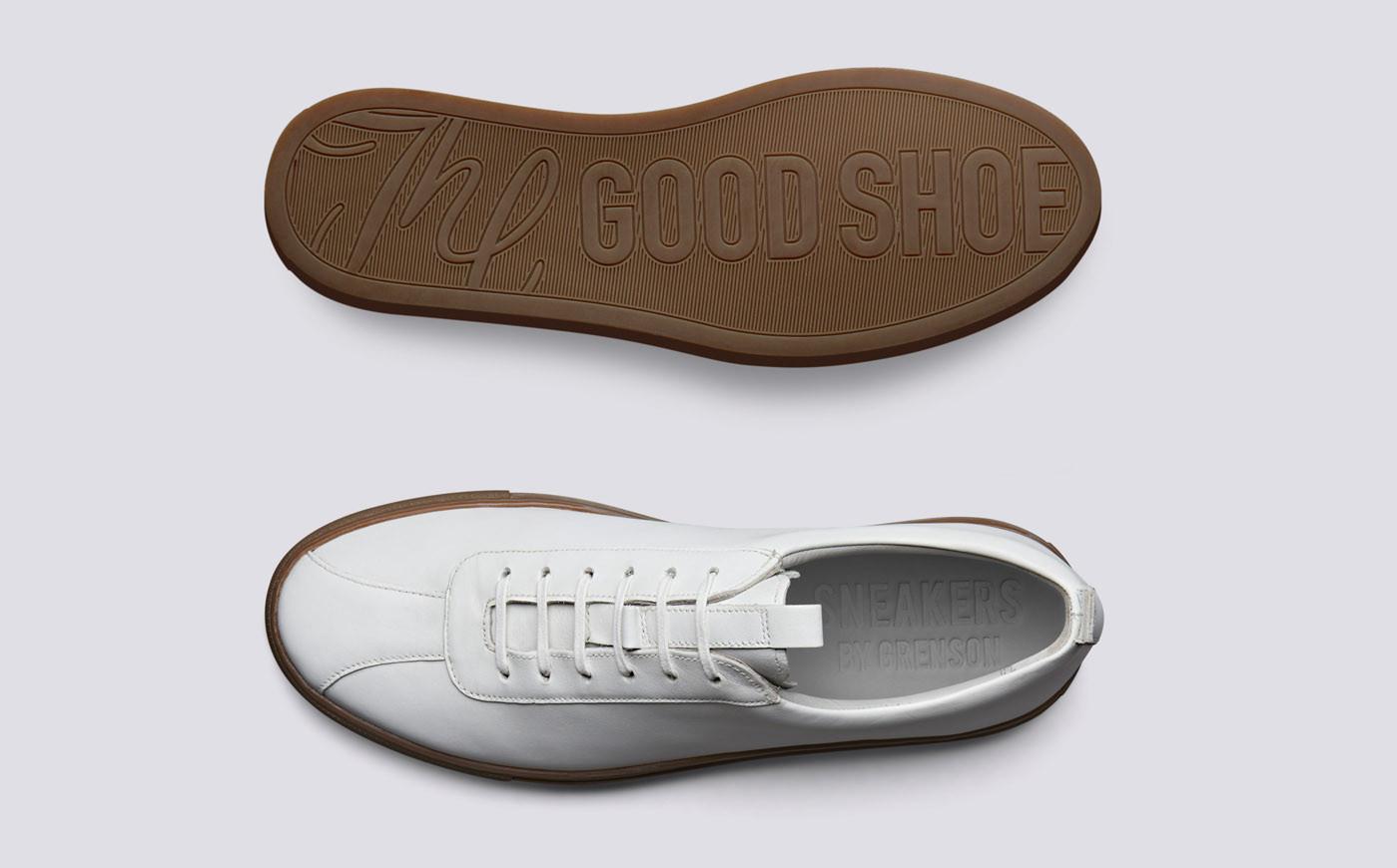 Sneaker 1 Wit Oxford Kalfsleder-3