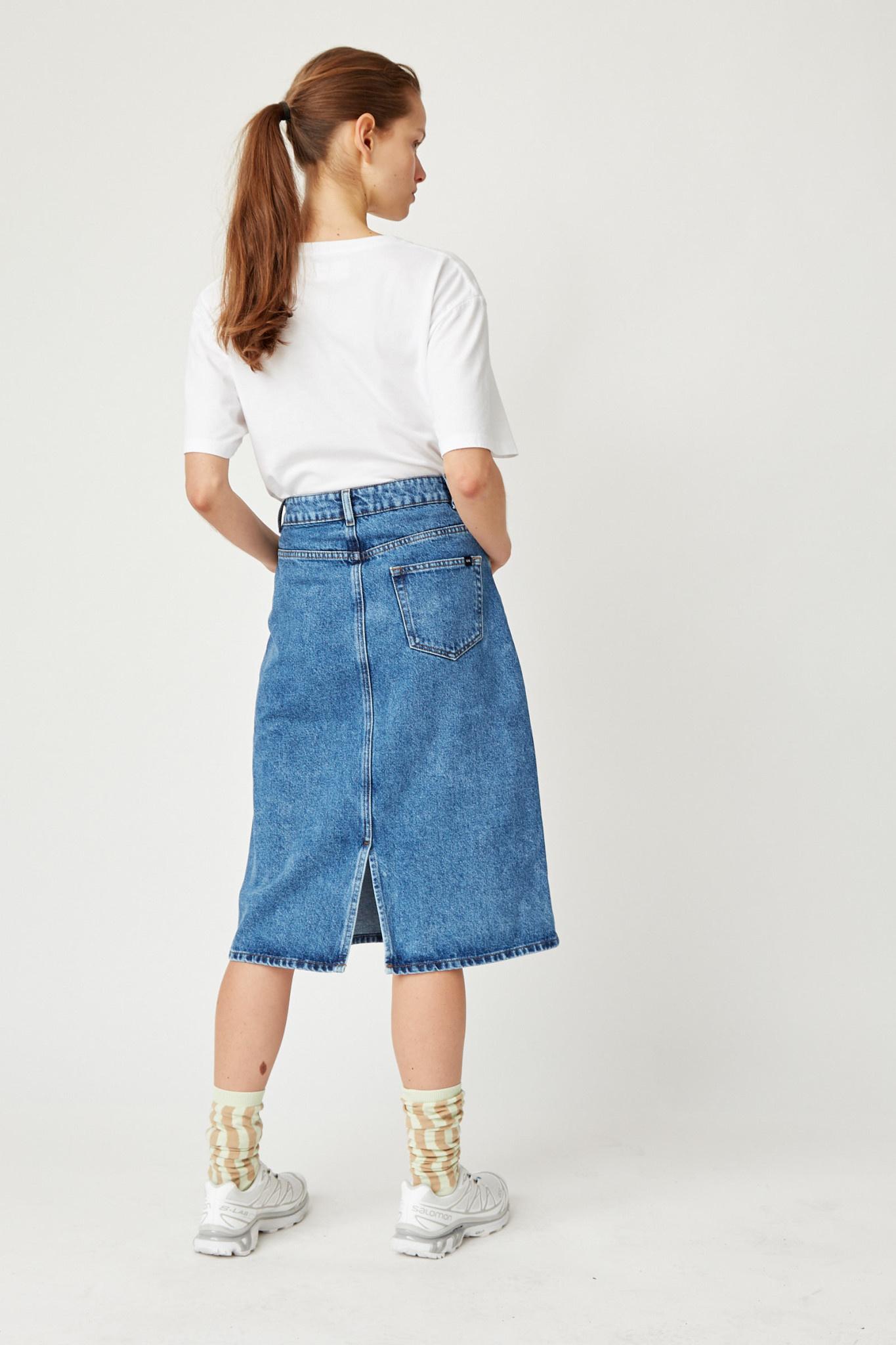 Grit Denim Skirt Classic Vintage Blue-3