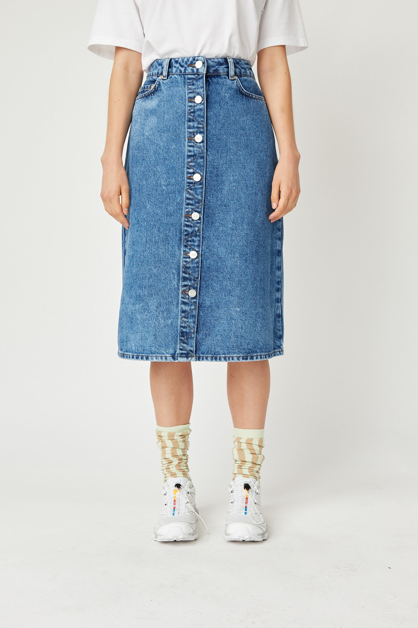 Grit Denim Skirt Classic Vintage Blue-2