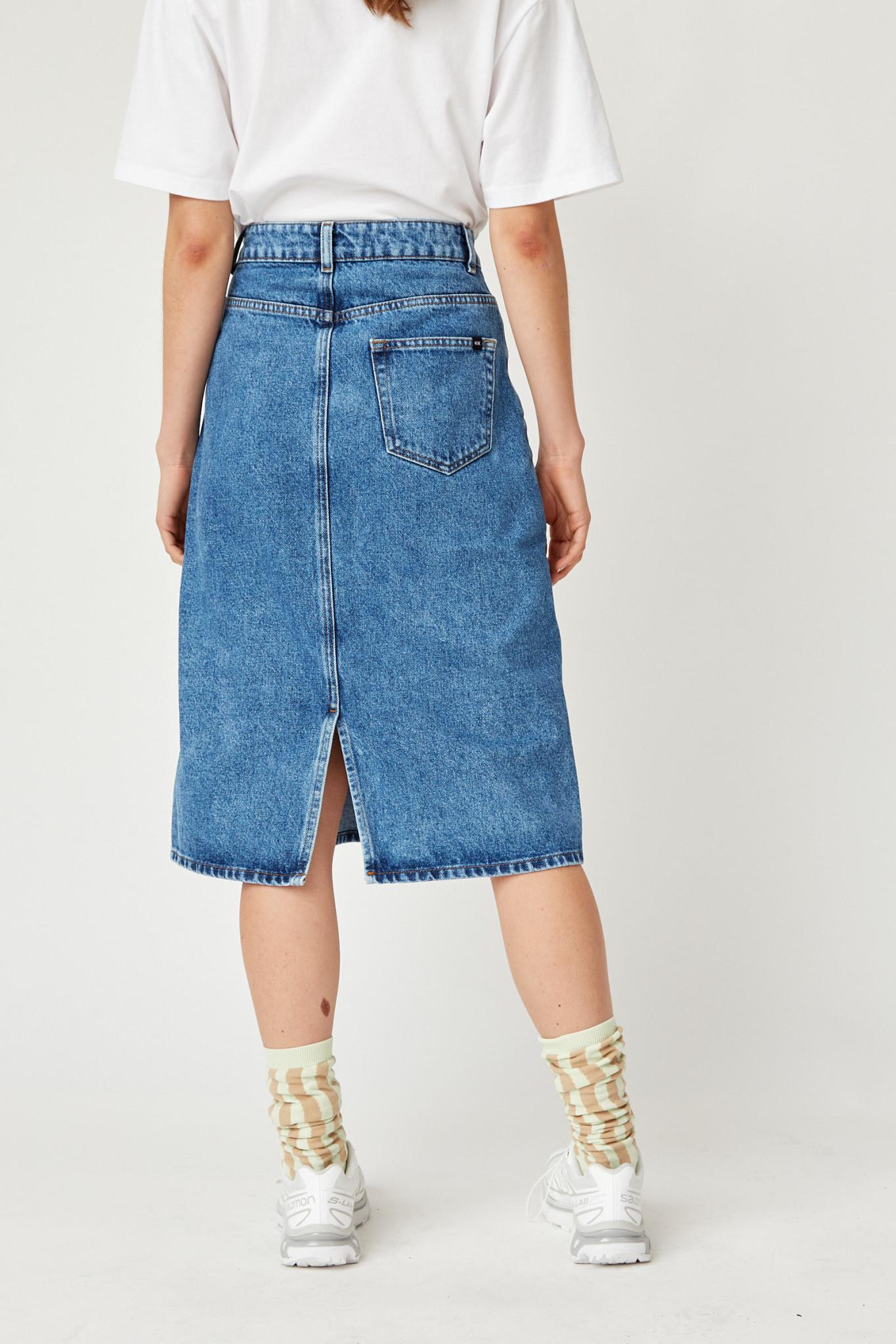 Grit Denim Skirt Classic Vintage Blue-5