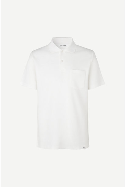 Taranto Cotton Polo Lily Wit