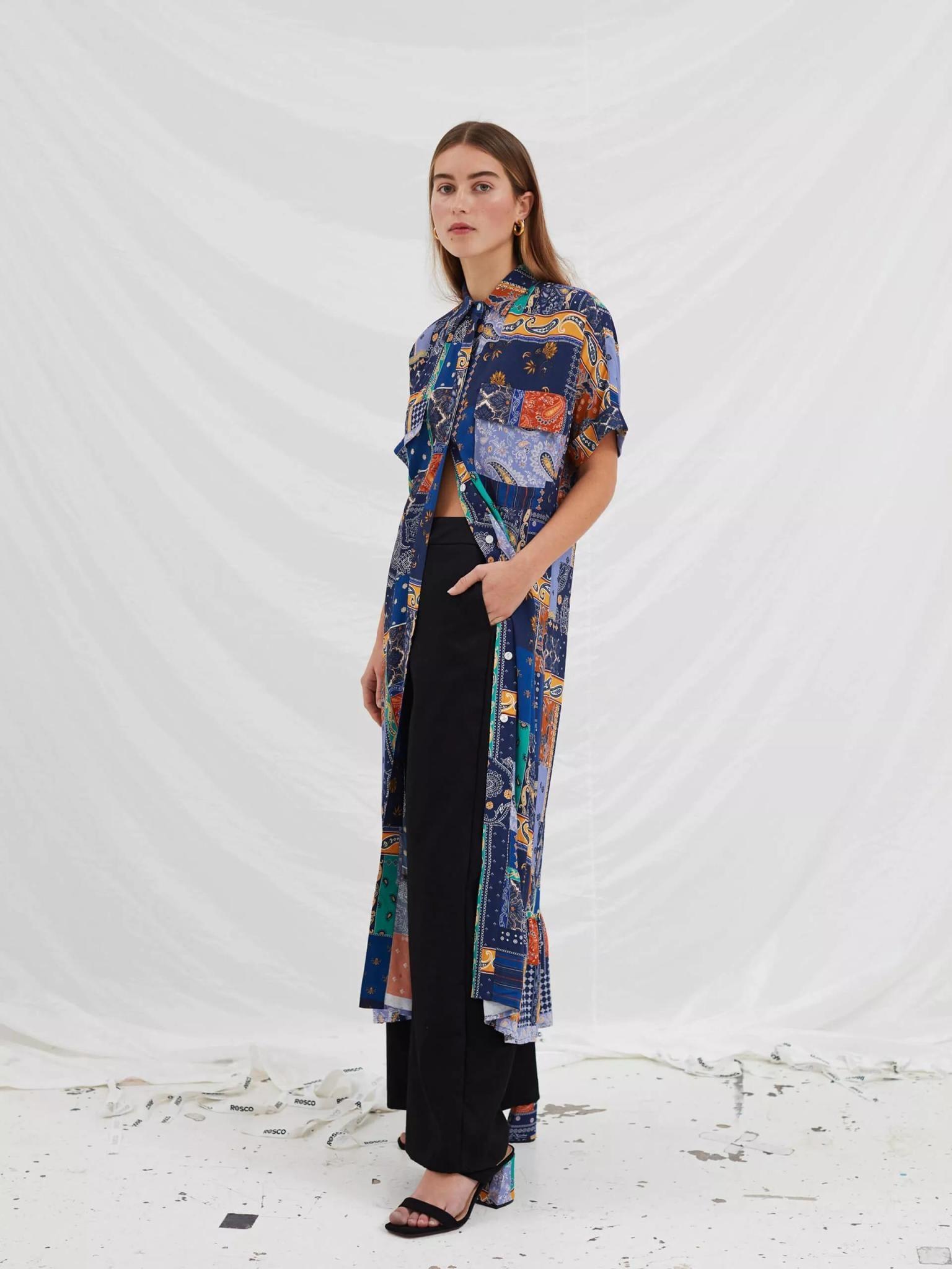 Light Dress Royal Blue Patch Dress-5