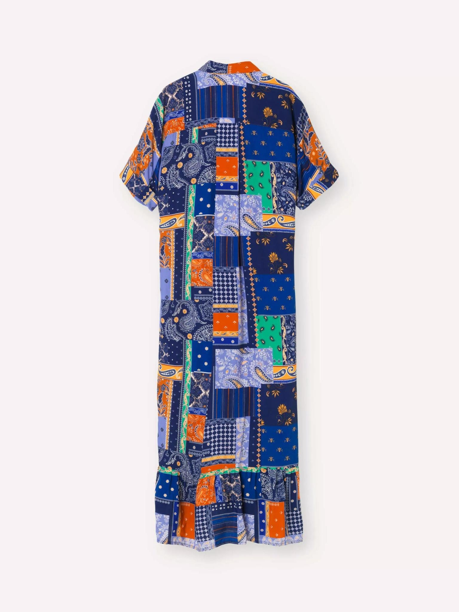 Light Royal Blue Patch Dress-3
