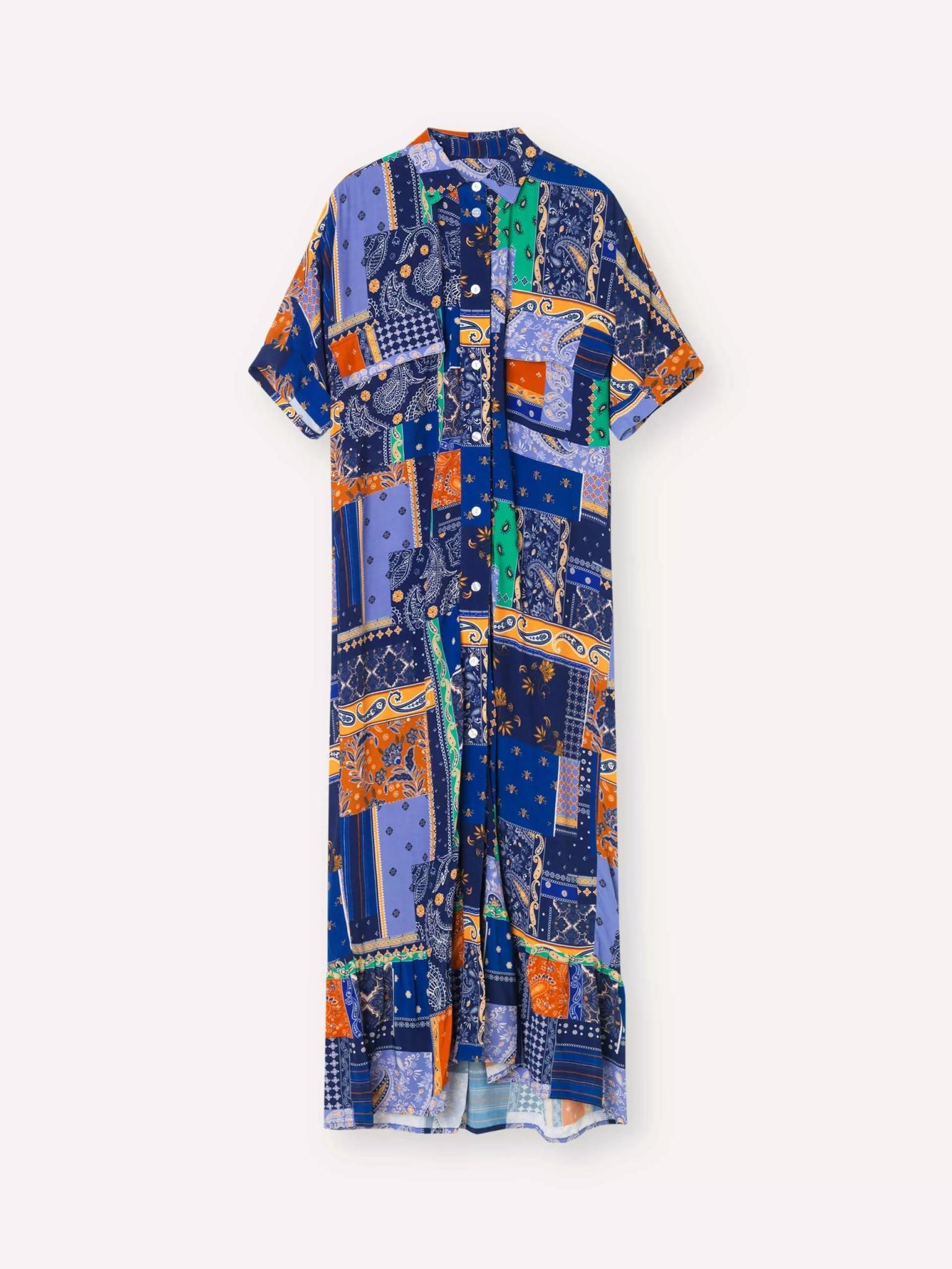 Light Dress Royal Blue Patch Dress-1