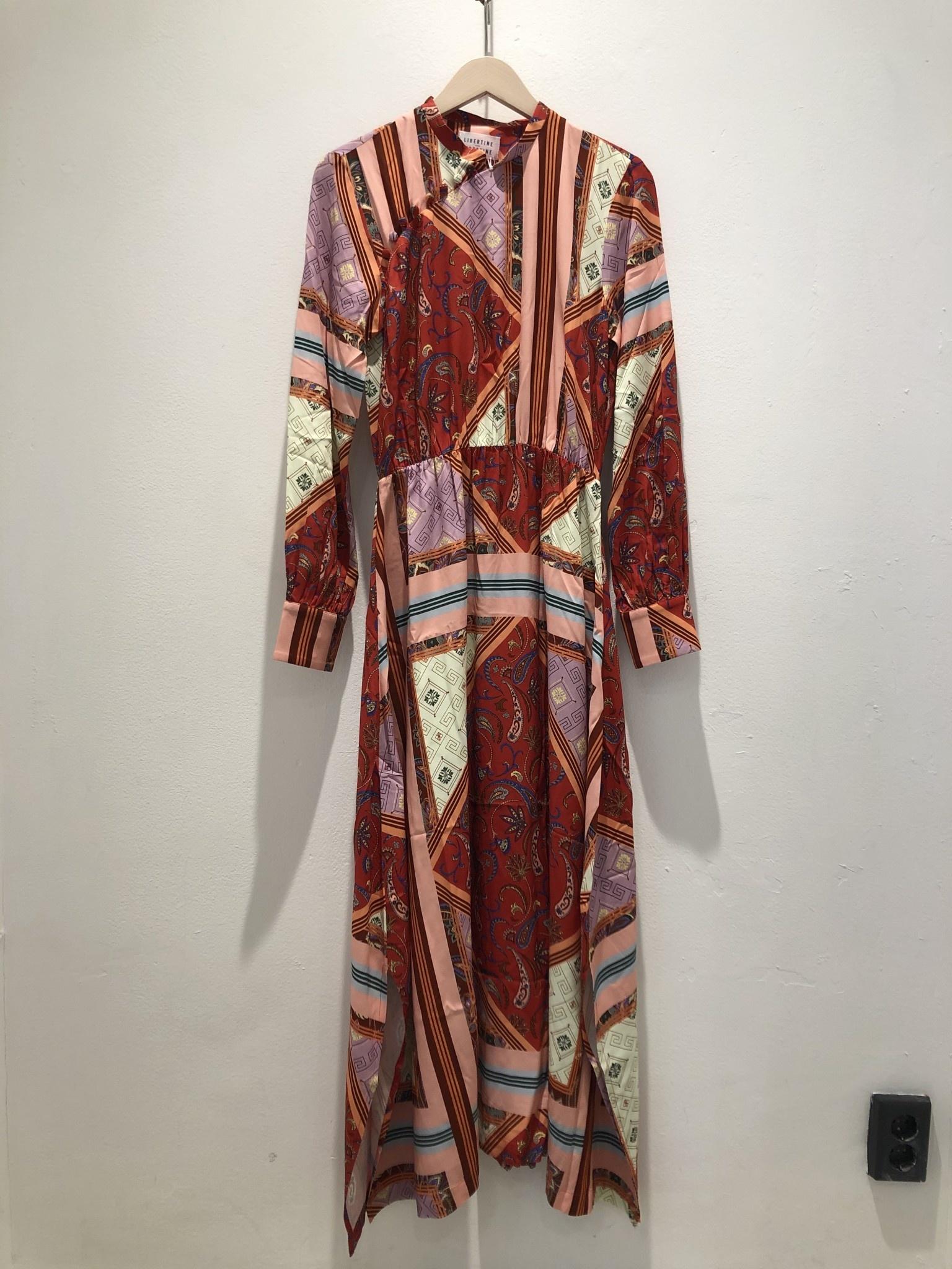 Trun Red Tile Dress-5