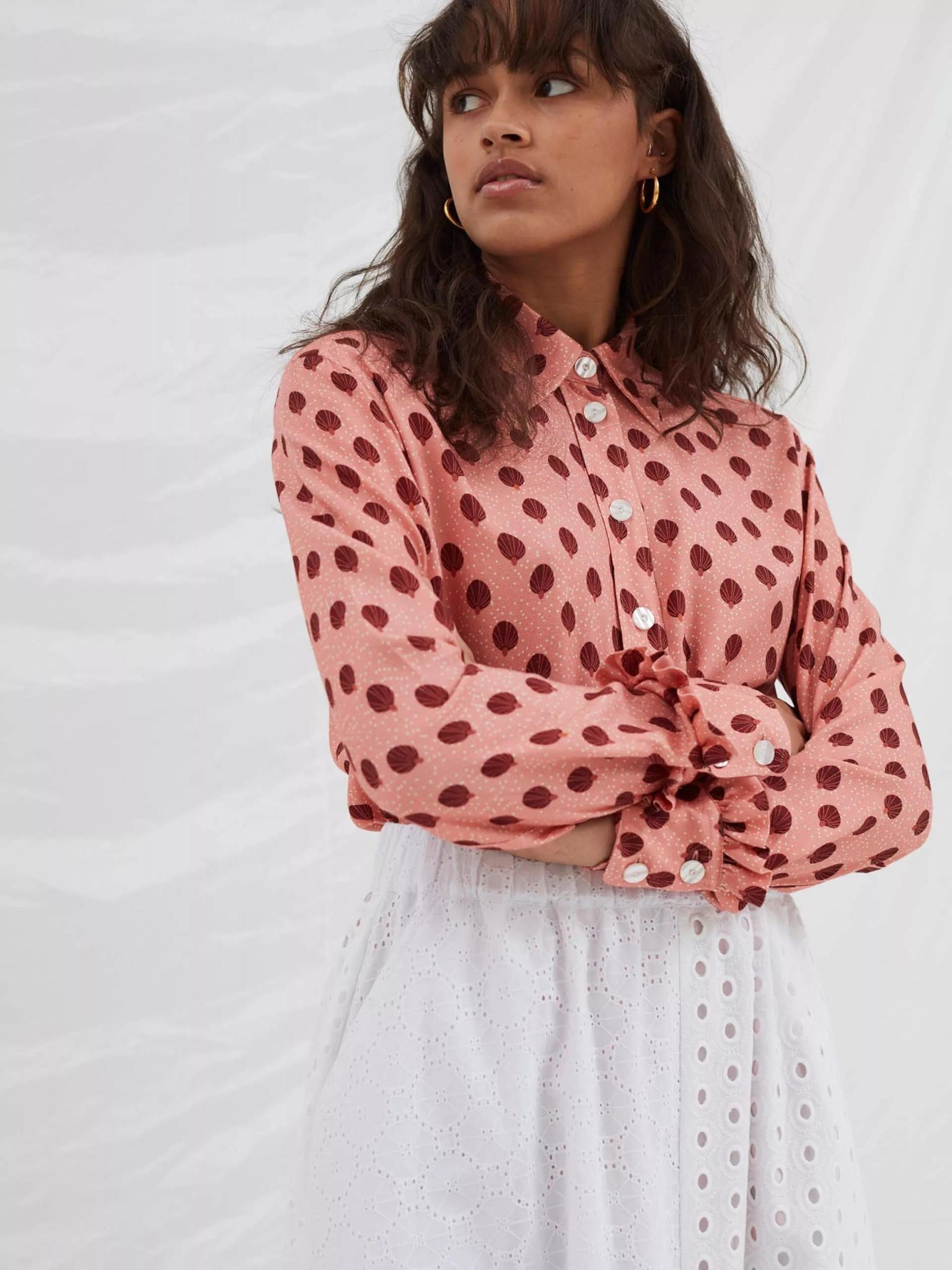 Point Rose Ballon Shirt-4