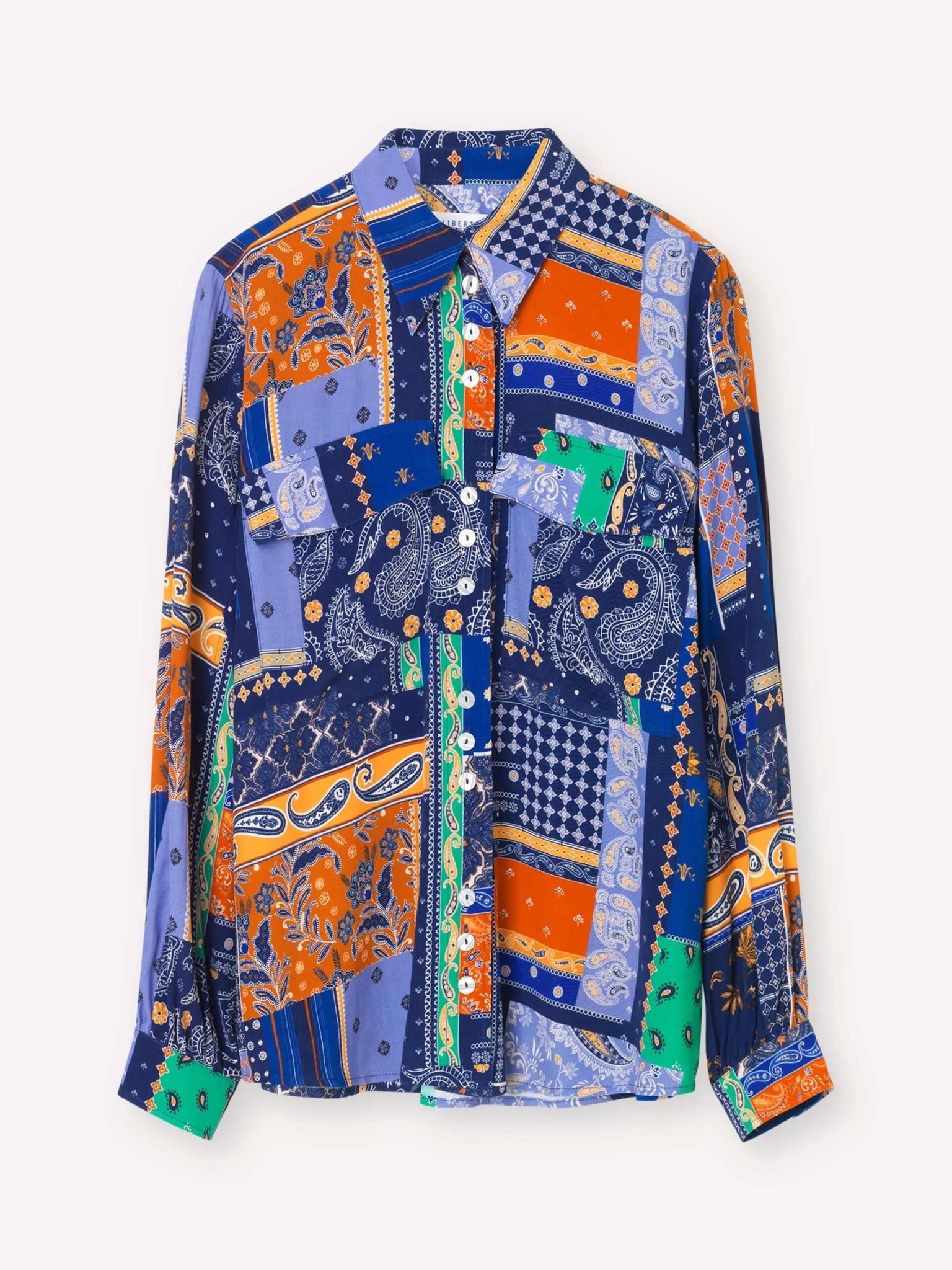 Clan Royal Blue Patch Shirt-1