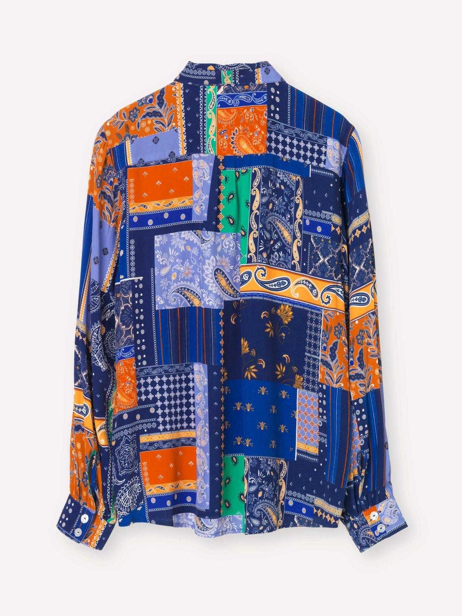 Clan Royal Blue Patch Shirt-3