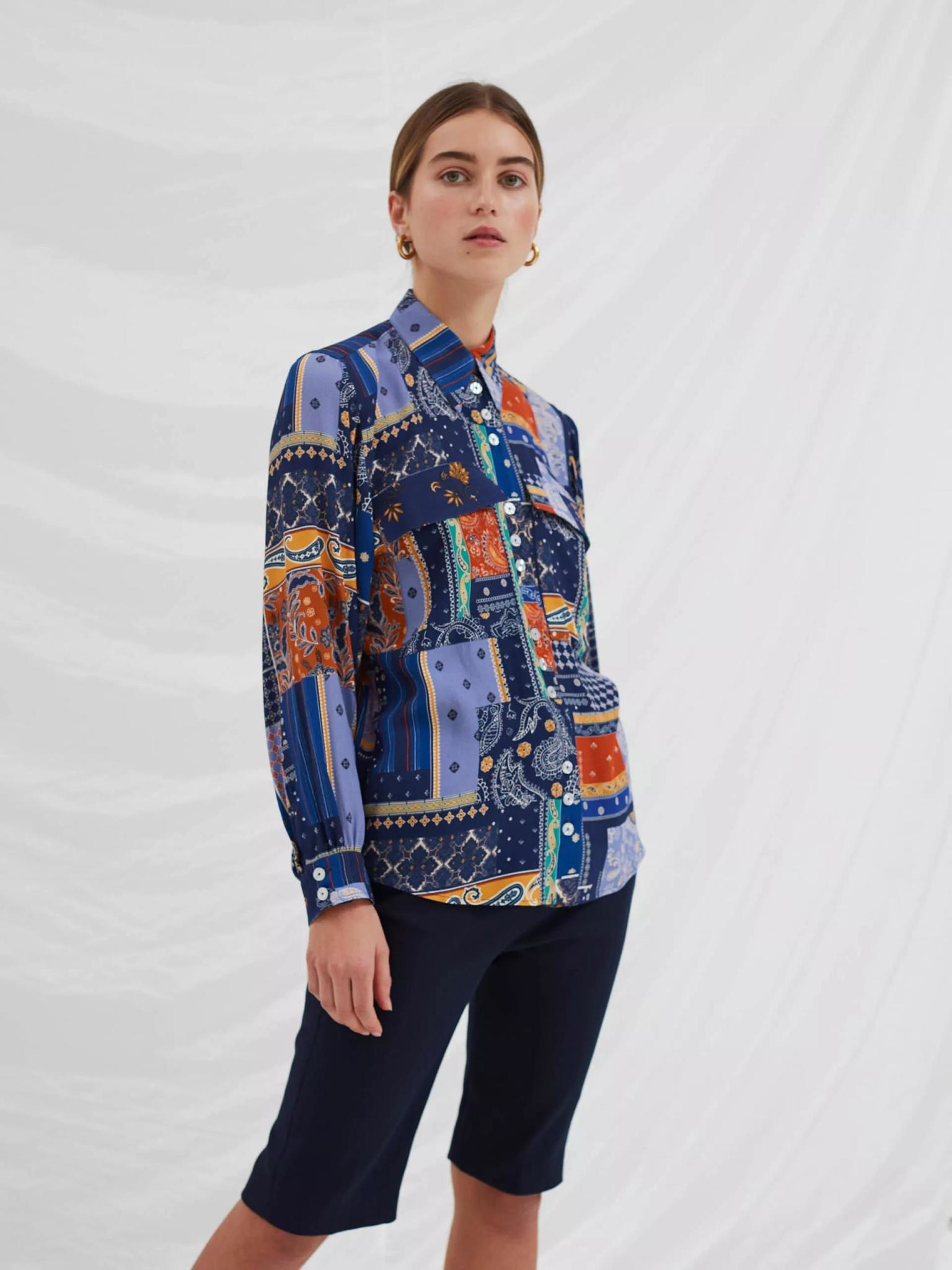 Clan Royal Blue Patch Shirt-2