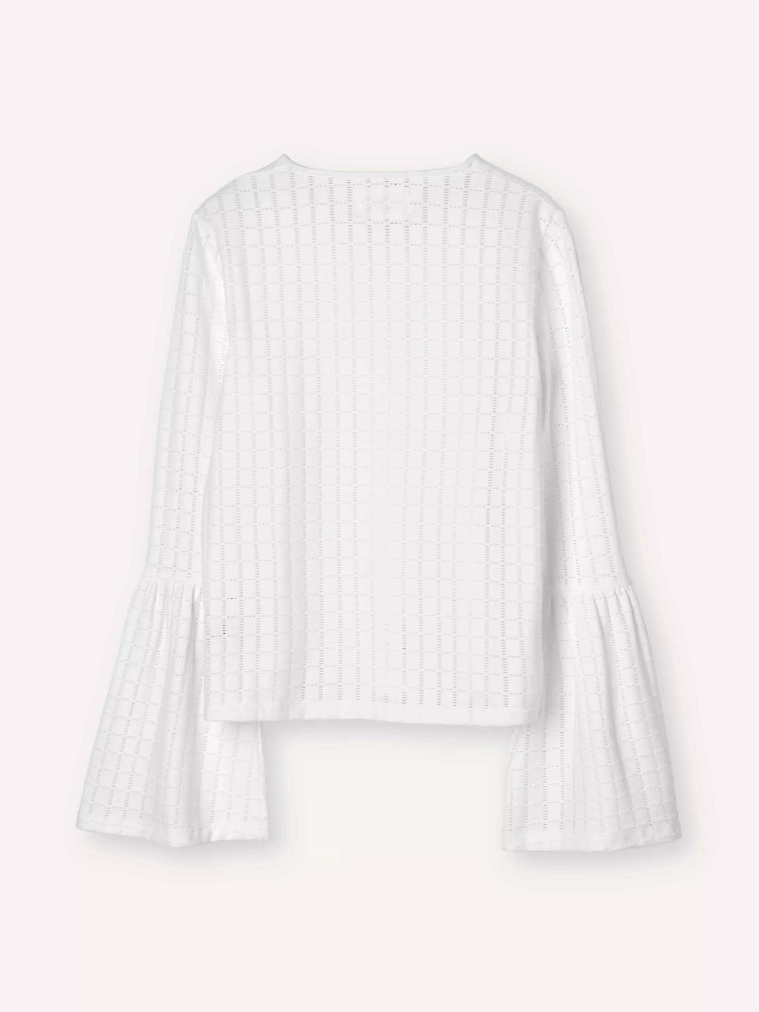 Radar Embroidery Top Bright White-2