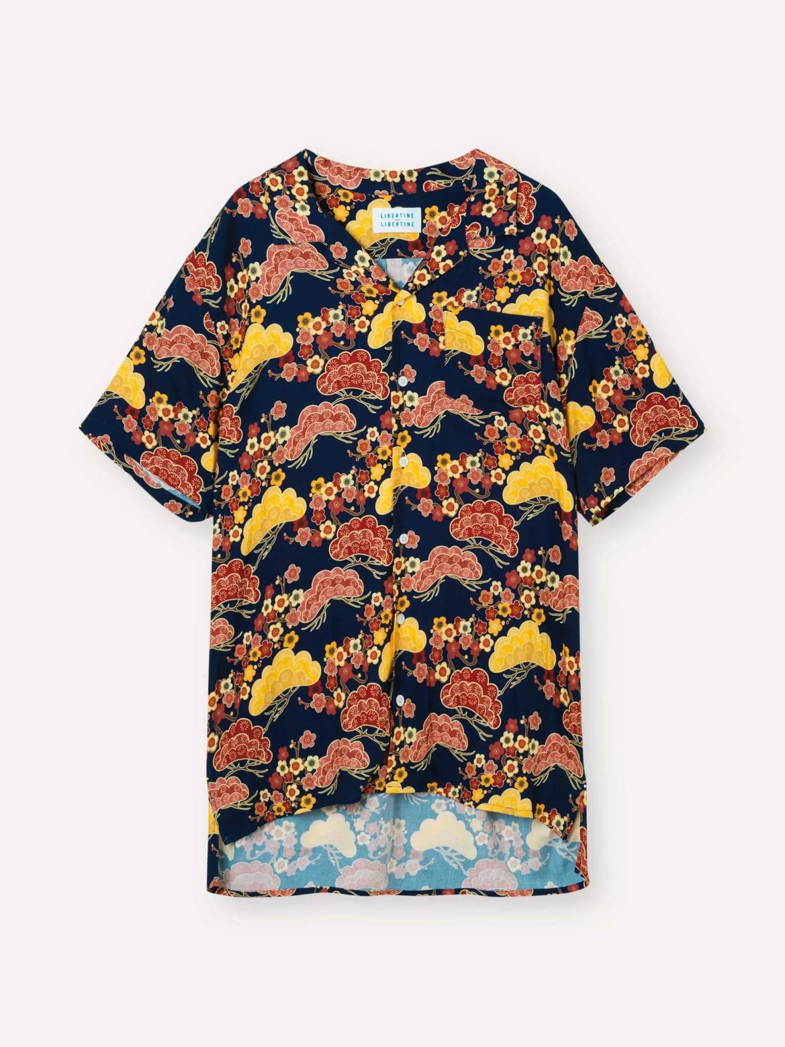 Cave Short Sleeve Asian Sky Blue Shirt-1