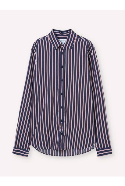 Babylon Navy Red Stripe Shirt