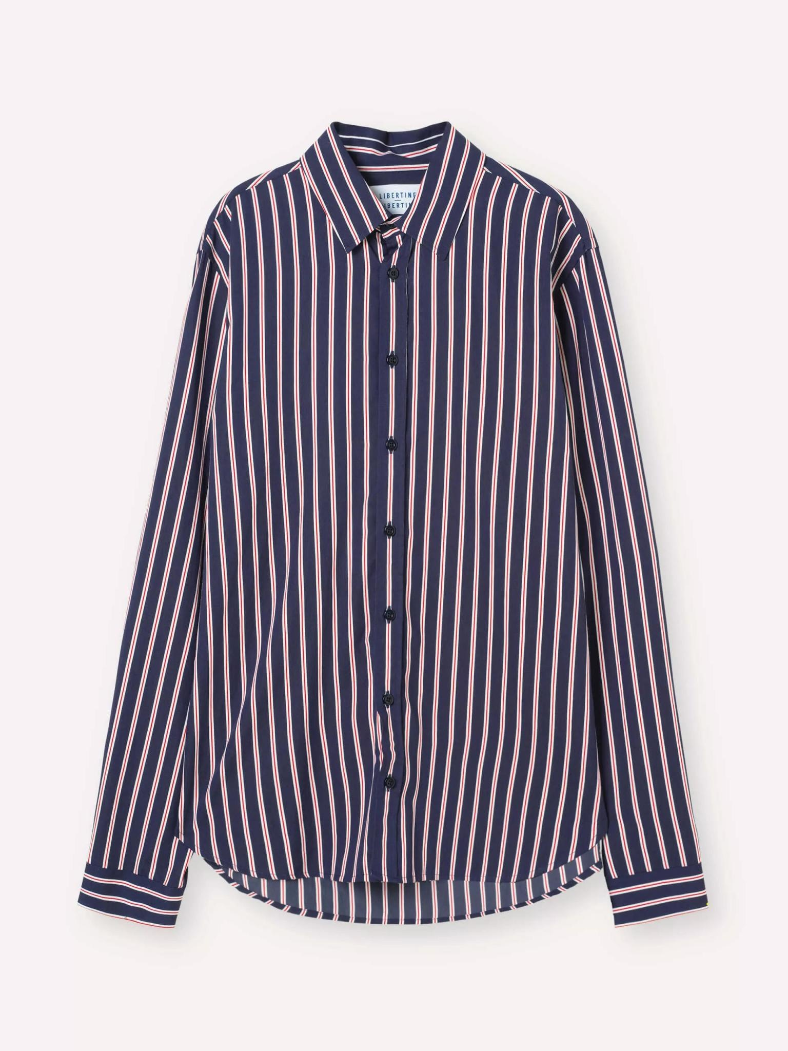 Babylon Navy Red Stripe Shirt-1