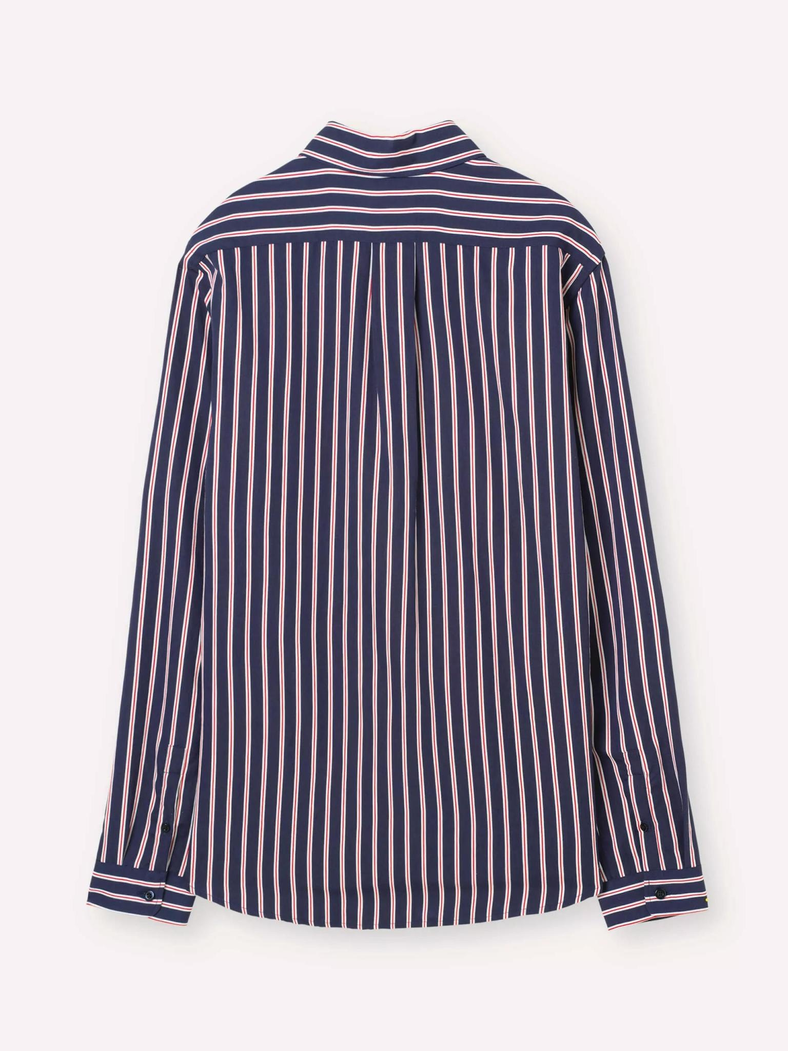 Babylon Navy Red Stripe Shirt-3