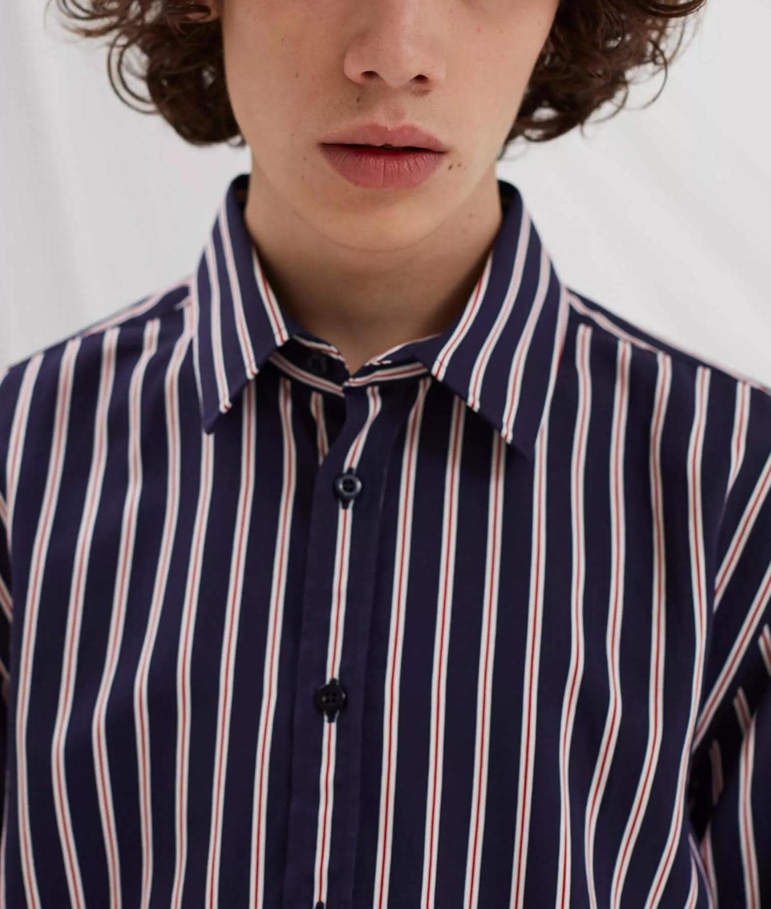 Babylon Navy Red Stripe Shirt-11