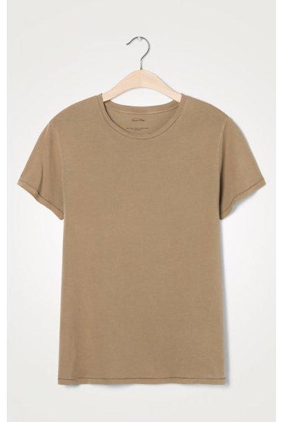 Vegiflower Caramel Bruin T-shirt
