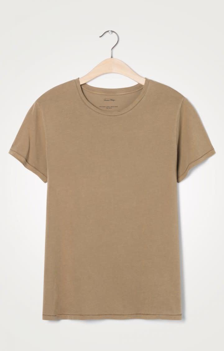 Vegiflower Camel Vintage Brown T-shirt-1