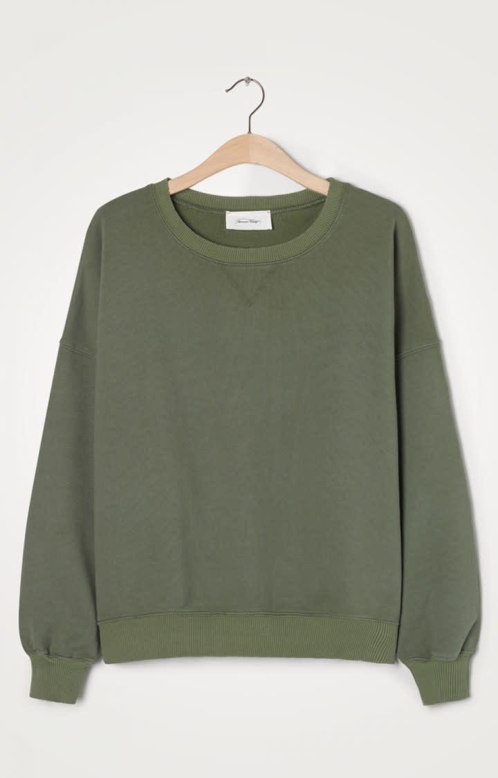 Wititi Oversize Sweater Stem Khaki Green-1