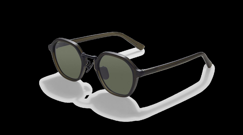 Mailey Dark Green Japanese Sunglasses-2