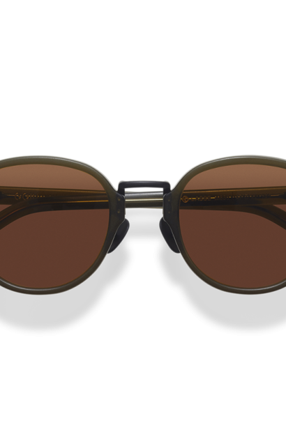 Lasse Dark Green Japanese Sunglasses