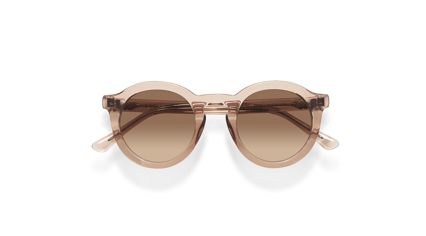 Aurel Light Pink Polished Sunglasses-4