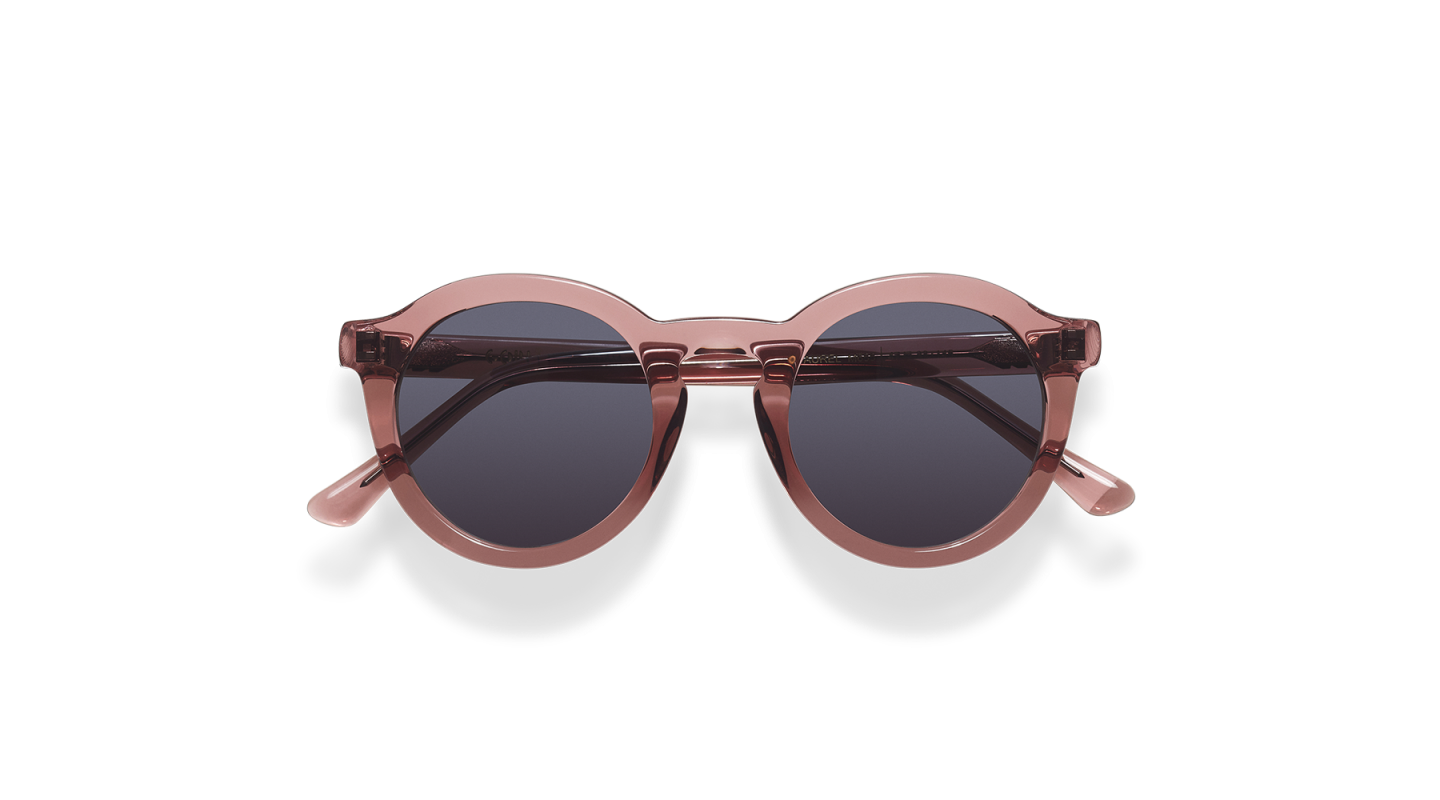 Aurel Dark Pink Polished Sunglasses-1
