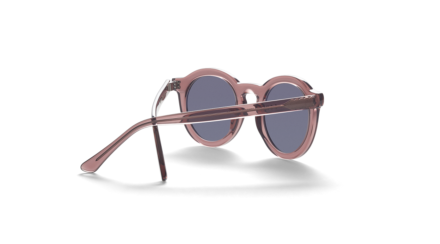 Aurel Dark Pink Polished Sunglasses-2