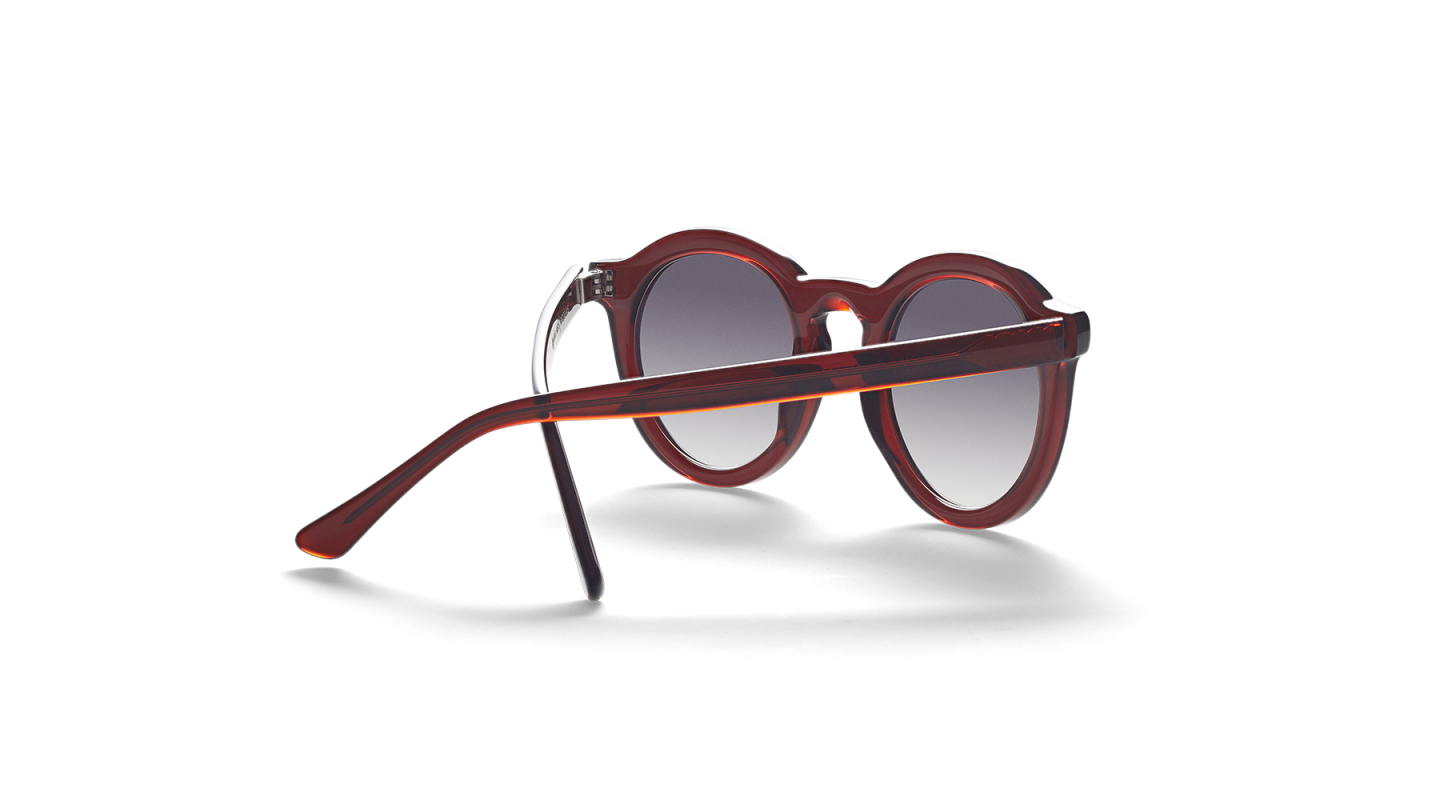Aurel Red Polished Sunglasses-2
