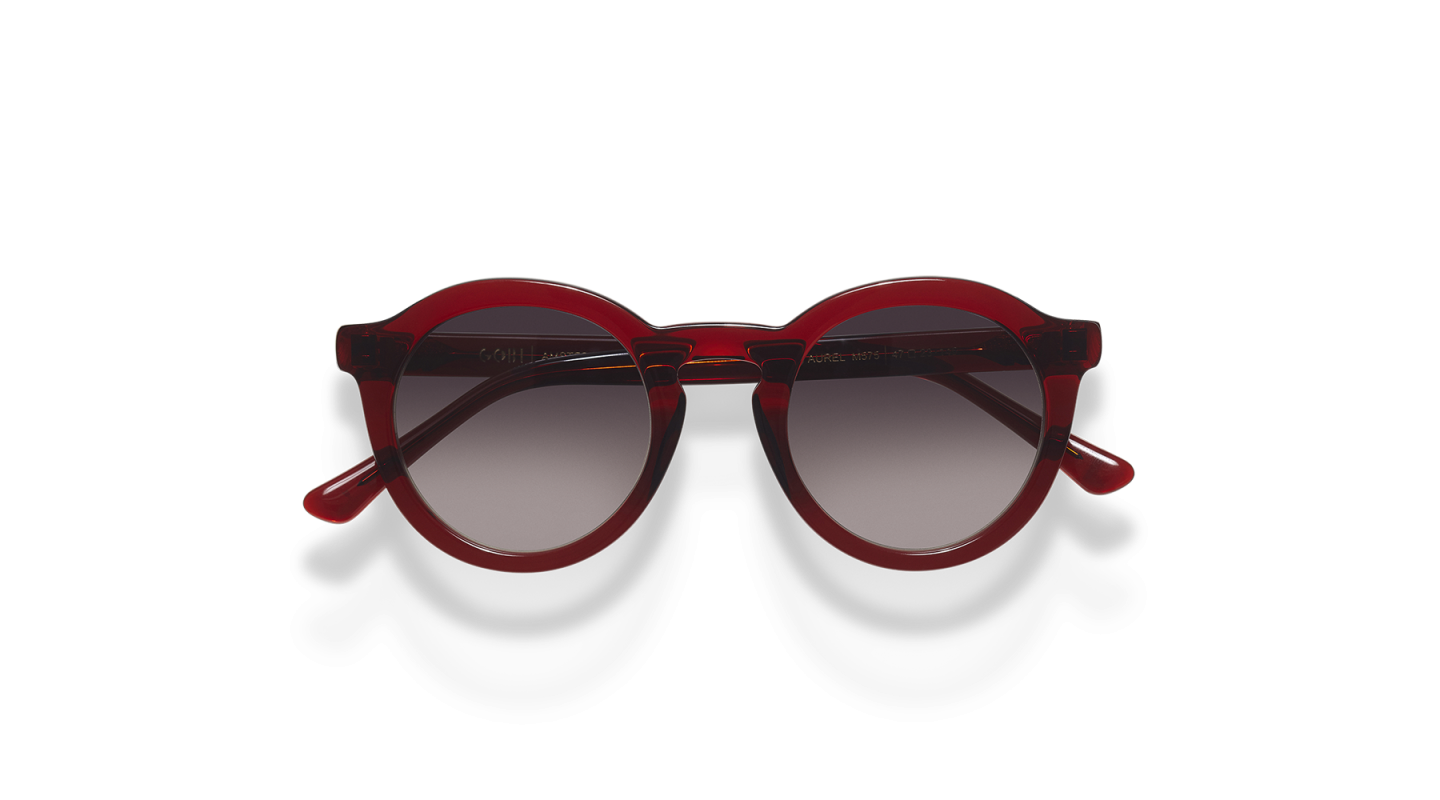 Aurel Red Polished Sunglasses-1