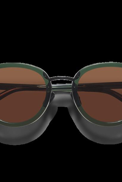 Mota Dark Green Sunglasses