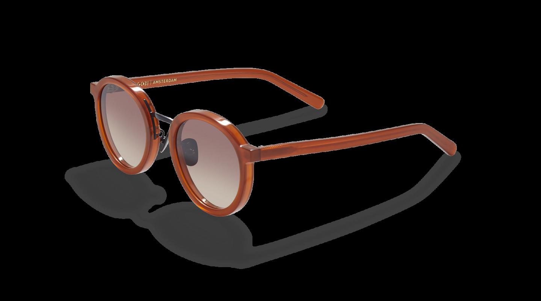 Loren Clay Red Sunglasses M340-2