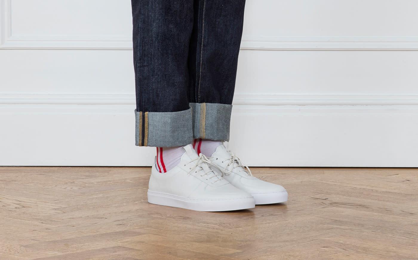 Sneaker 22 White Calf Leather-4