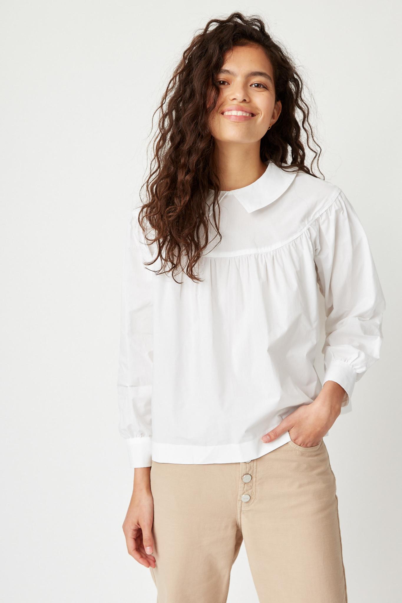 Maia Classic White Cotton Top-1