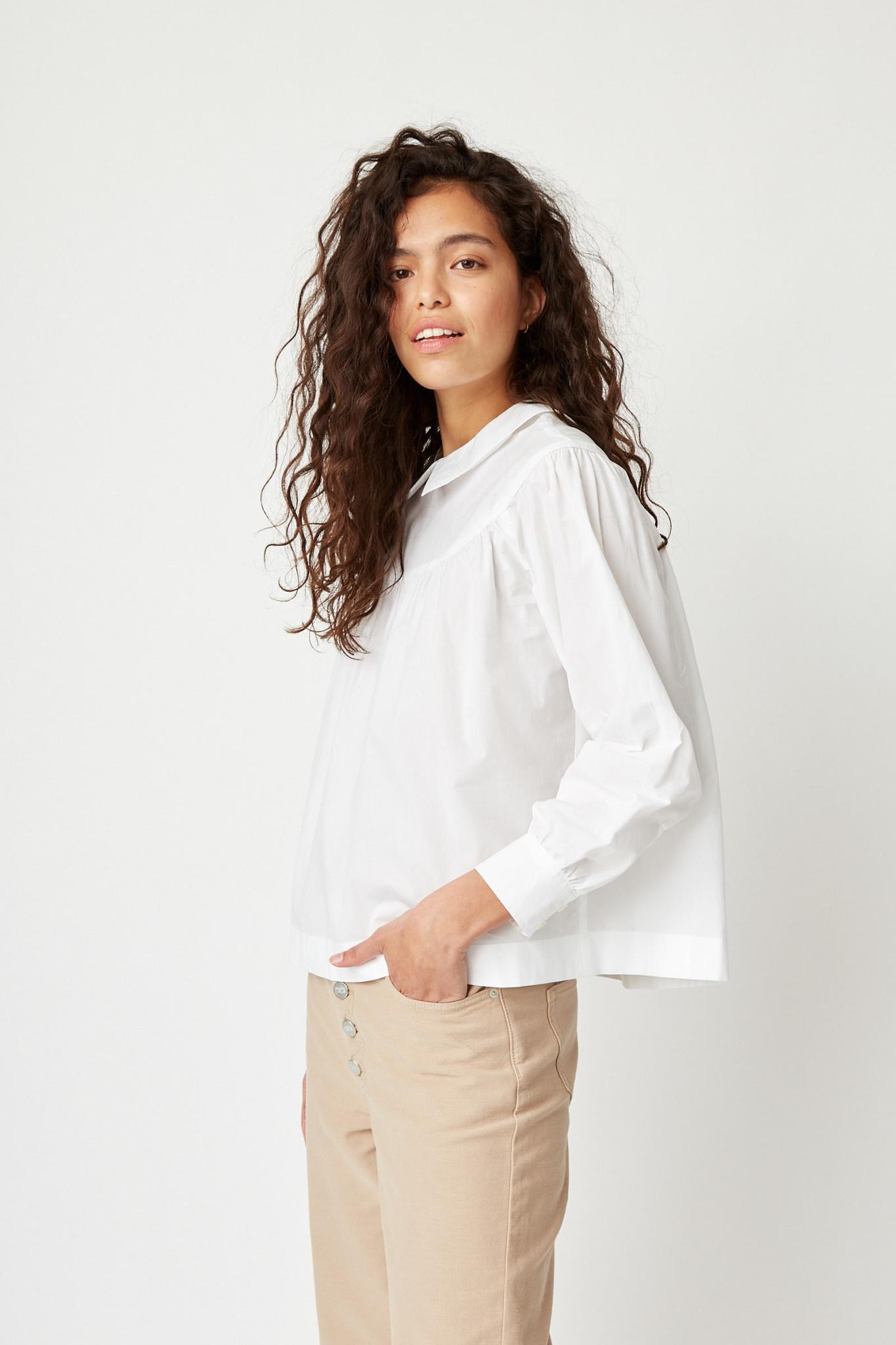 Maia Classic White Cotton Top-2