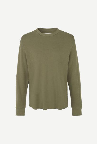 Parmo T-shirt Lange Mouw Deep Lichen Green