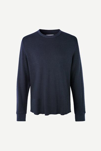 Parmo T-Shirt met lange mouwen in Nacht Blauw