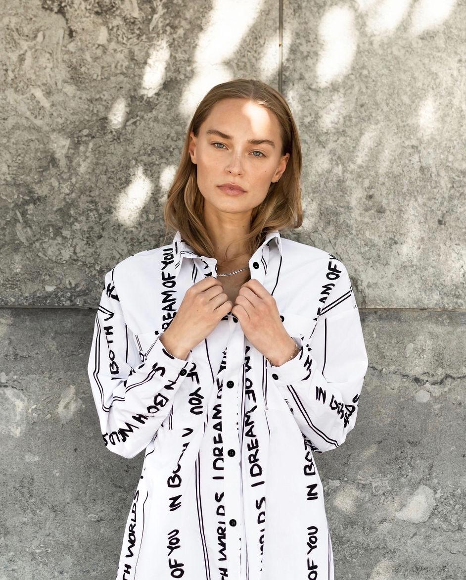 Alva White Print Shirt-3