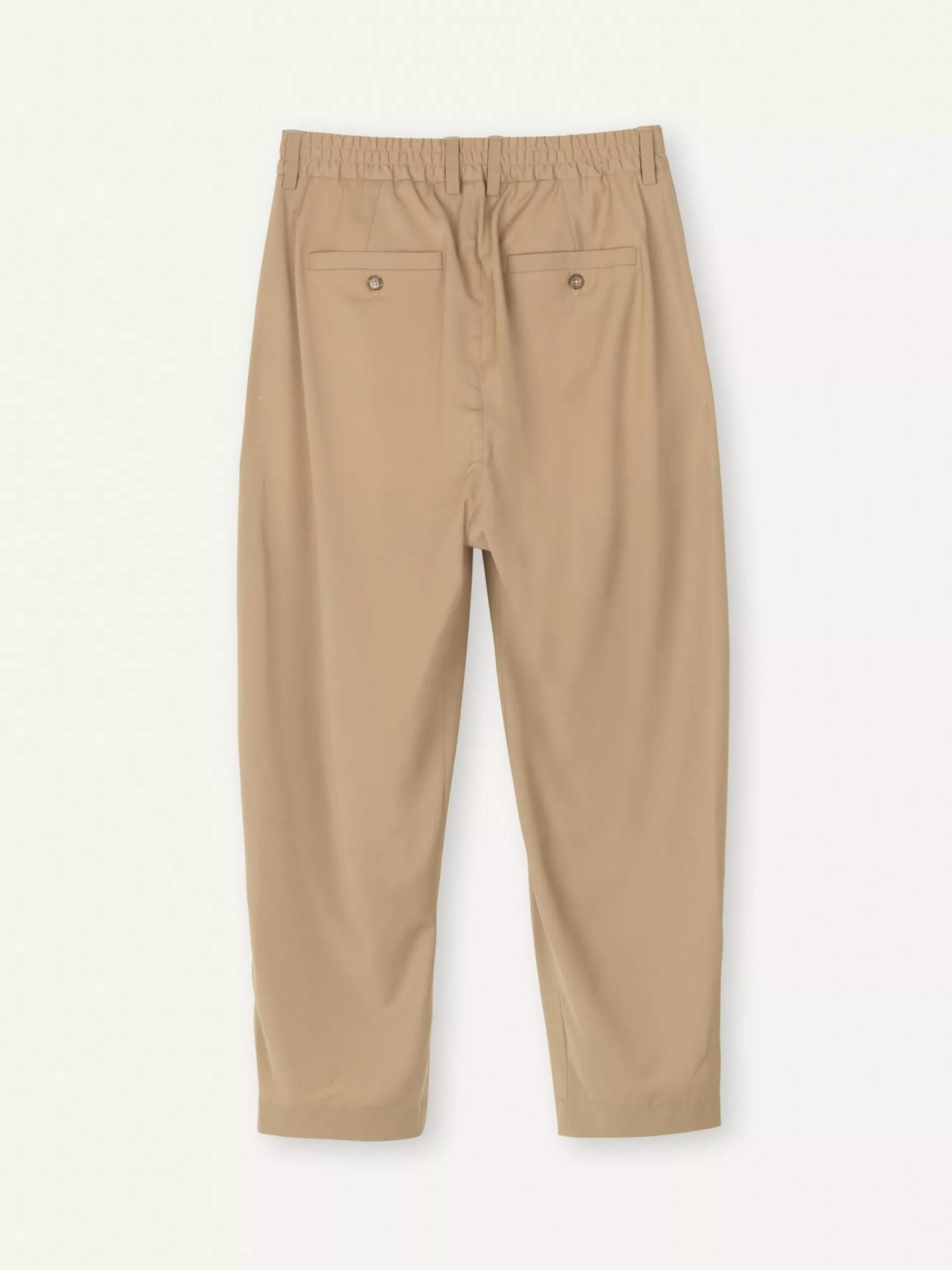 Smoke Loose Fit Pants Sand-3
