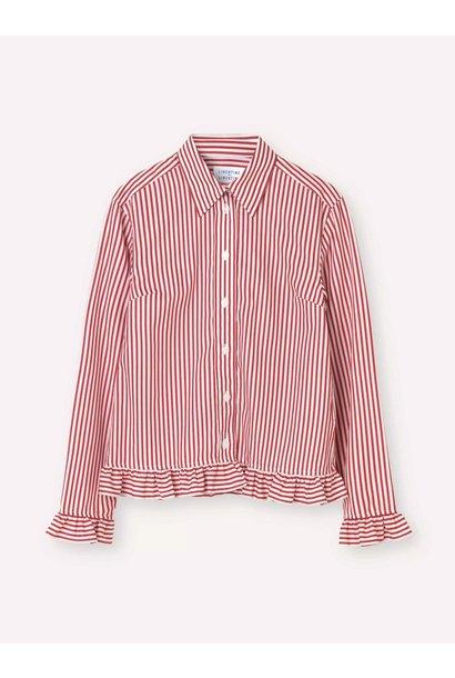 Present White Red Stripe Shirt