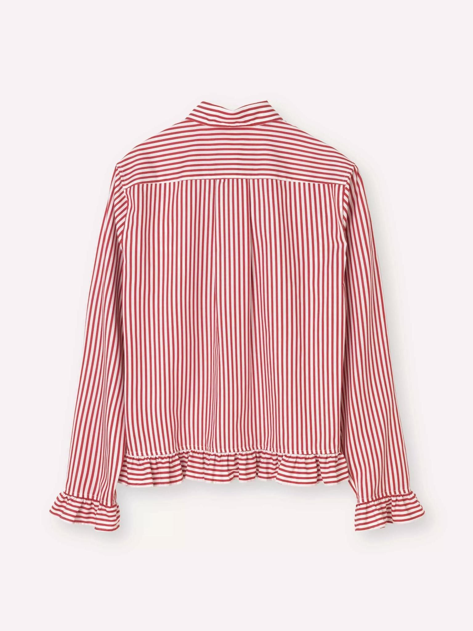 Present White Red Stripe Shirt-2