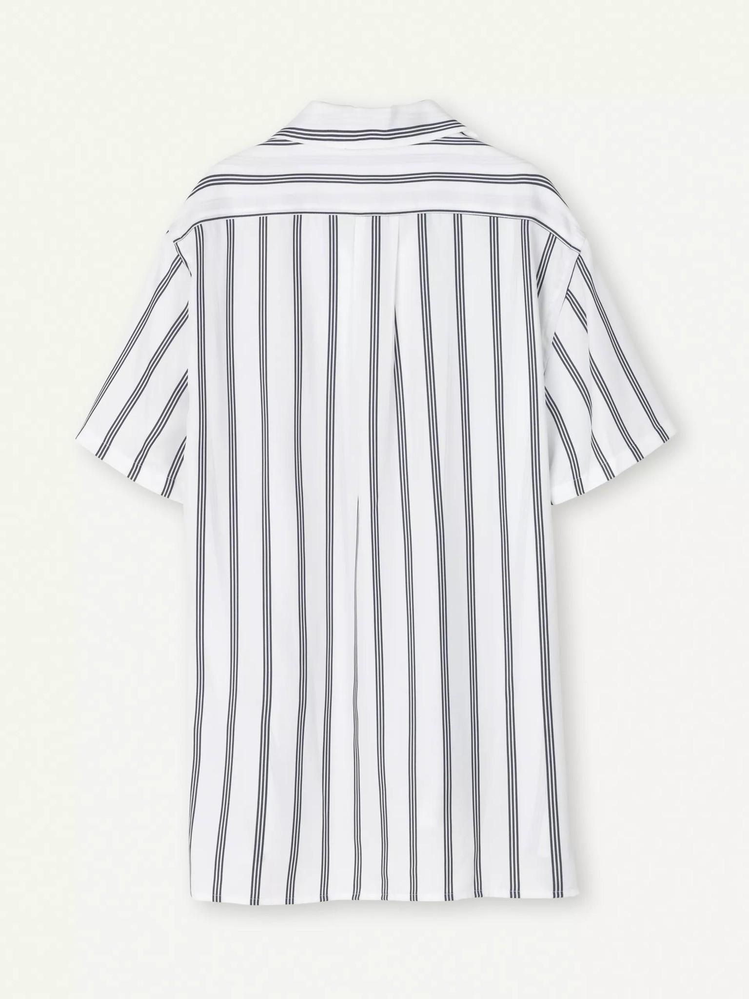 Cave Short Sleeve Shirt White Navy Stripe-2