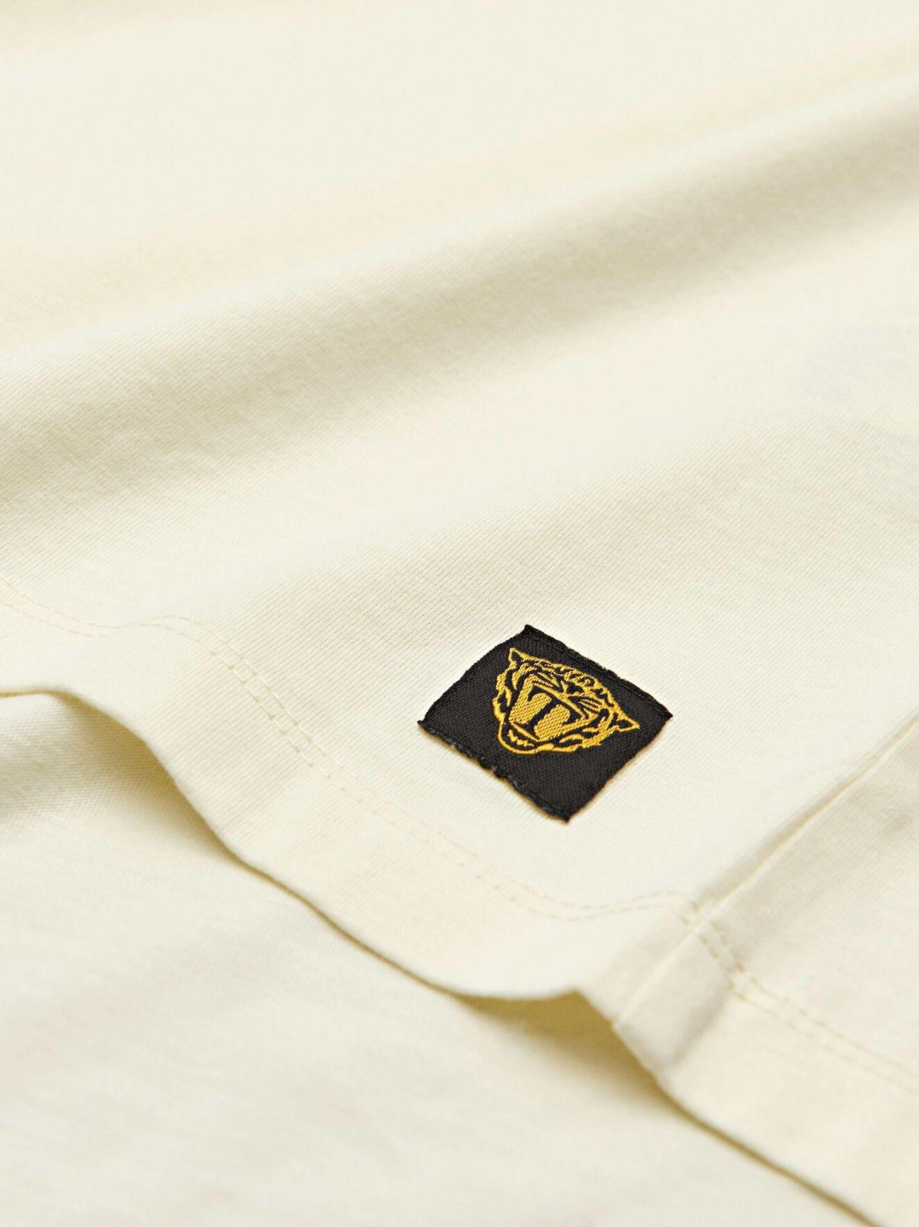 Fleek Cotton T-shirts Pale Yellow-2