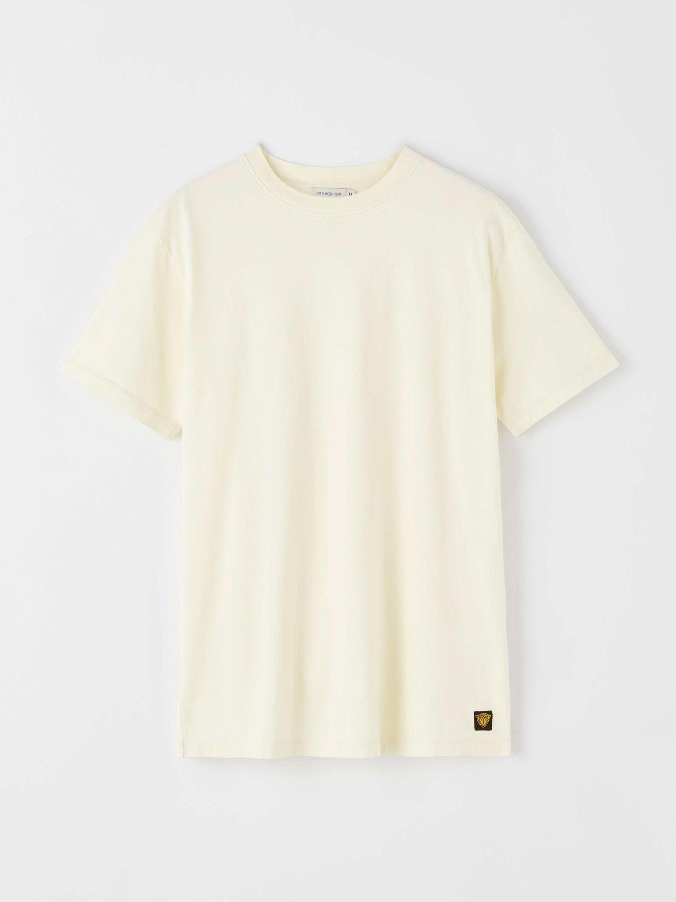Fleek Cotton T-shirts Pale Yellow-1